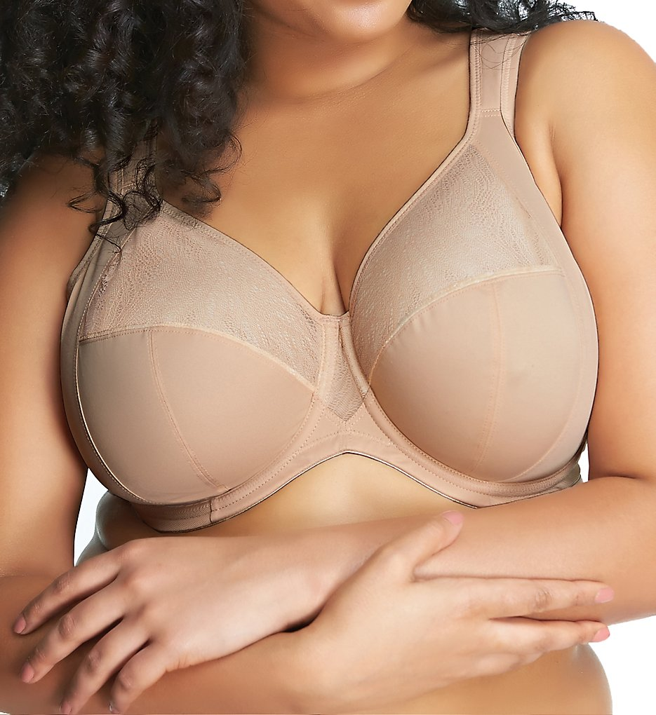 Goddess : Goddess GD6060 Heather Underwire Banded Bra (Sand 34H)