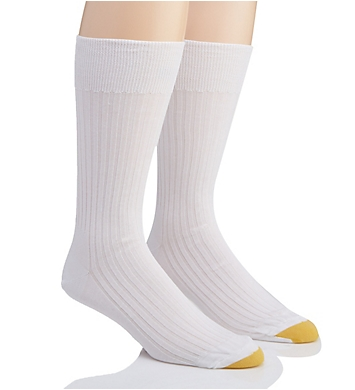 Gold Toe Comfort Top Non-Elastic English Rib Socks - 2 Pack