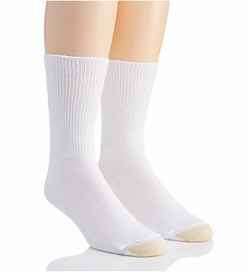 Gold Toe Non Binding Super Soft Crew Socks - 2 Pack
