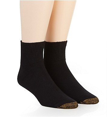 Gold Toe Wellness Non Binding Rayon Quarter Sock - 2 Pack