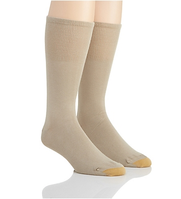Gold Toe Wellness Non Binding Rayon Crew Sock- 2 Pack