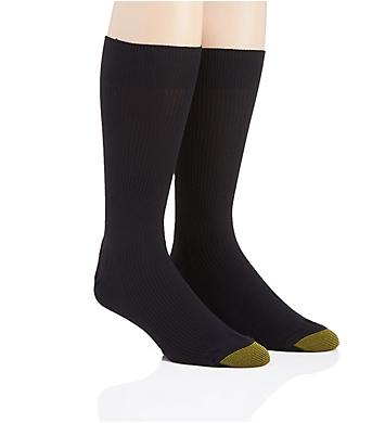 Gold Toe Wellness Comfort Top Nylon Crew Socks - 2 Pack