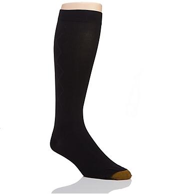 Gold Toe Mild Compression Over The Calf Argyle Sock