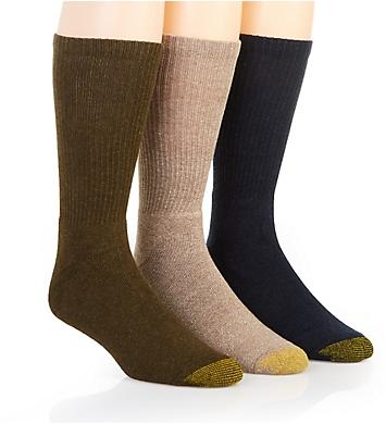 Gold Toe Moisture Control Uptown Crew Socks - 3 Pack