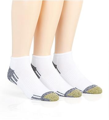 Gold Toe Outlast No Show Quarter Socks - 3 Pack