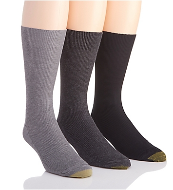 Gold Toe Metropolitan Cotton Crew Dress Socks - 3 Pack