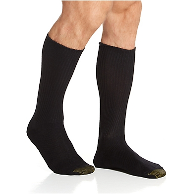 Gold Toe Midcalf Fluffies 1X1 Rib Socks - 3 Pack