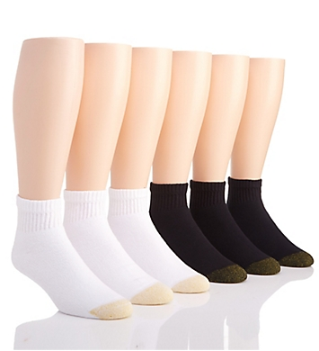 Gold Toe Cushioned Cotton Quarter Socks - 6 Pack