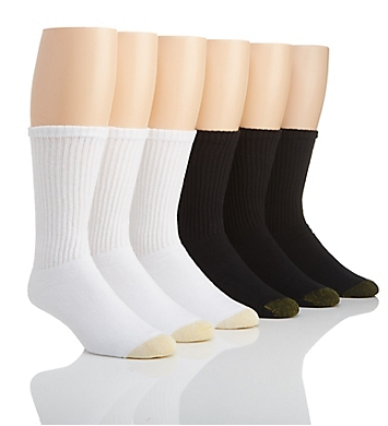 Gold Toe Athletic Crew Socks - 6 Pack