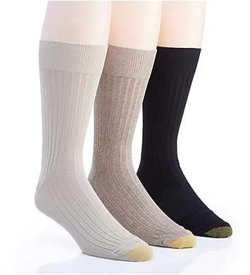 Gold Toe Canterbury Crew Dress Socks - 3 Pack