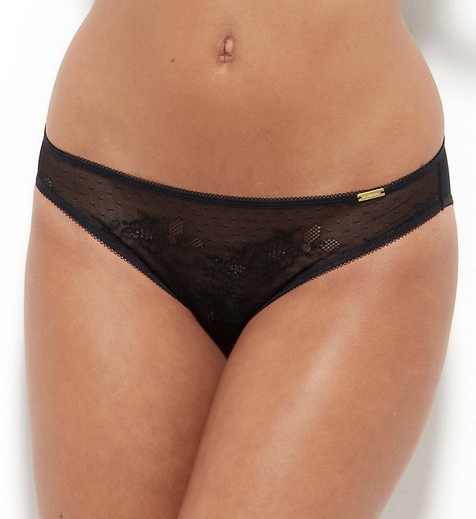 Gossard (1964870) - Gossard 13003 Glossies Lace Sheer Brief Panty (Black L)