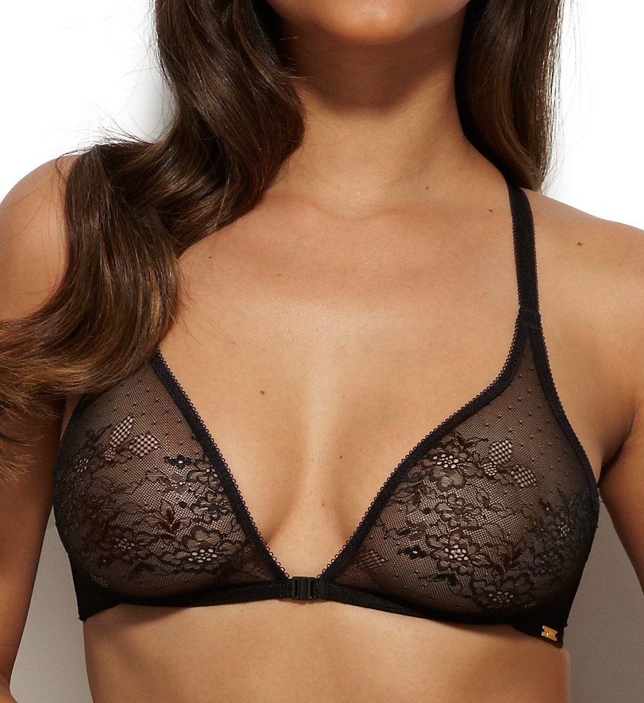Gossard - Gossard 13005 Glossies Lace Soft Cup Front Close Bra (Black 38B)