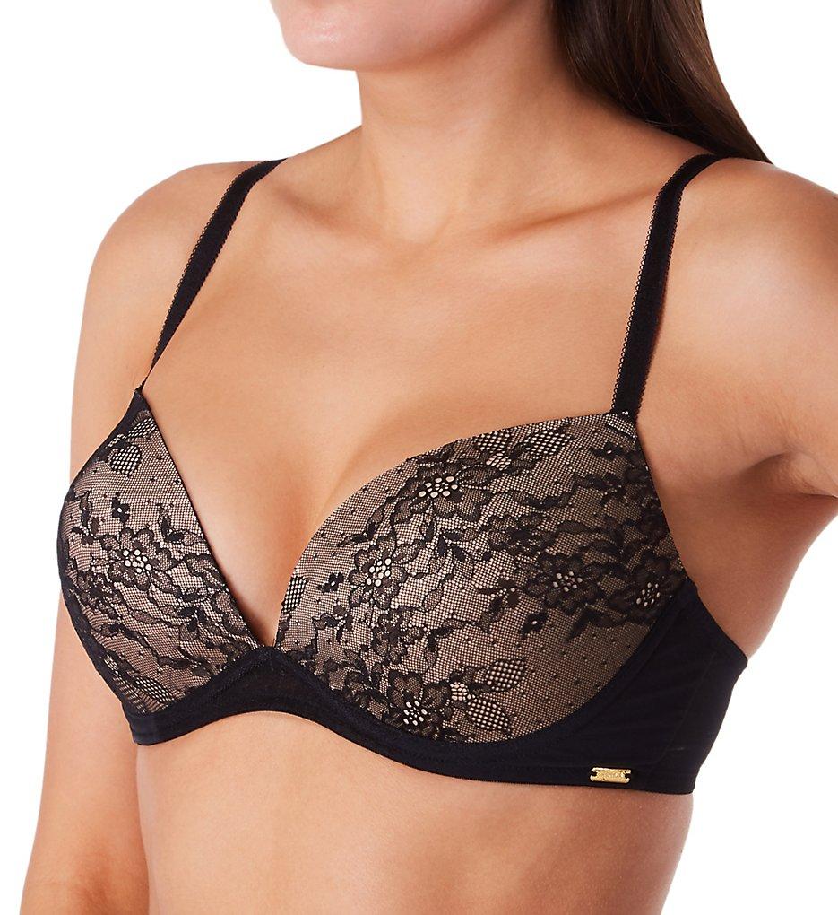 Gossard - Gossard 13008 Glossies Lace Padded Plunge Bra (Black 30B)
