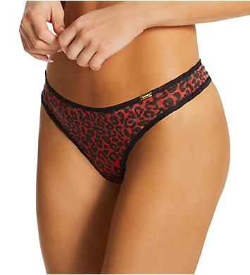 Gossard Glossies Leopard Sheer Thong