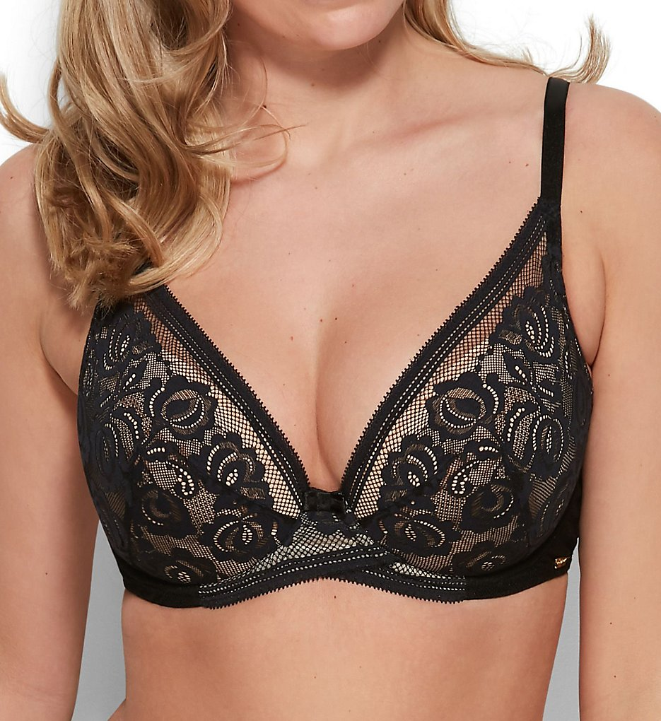 Gossard >> Gossard 15601 Encore Padded High Apex Bra (Black/Nude 30D)