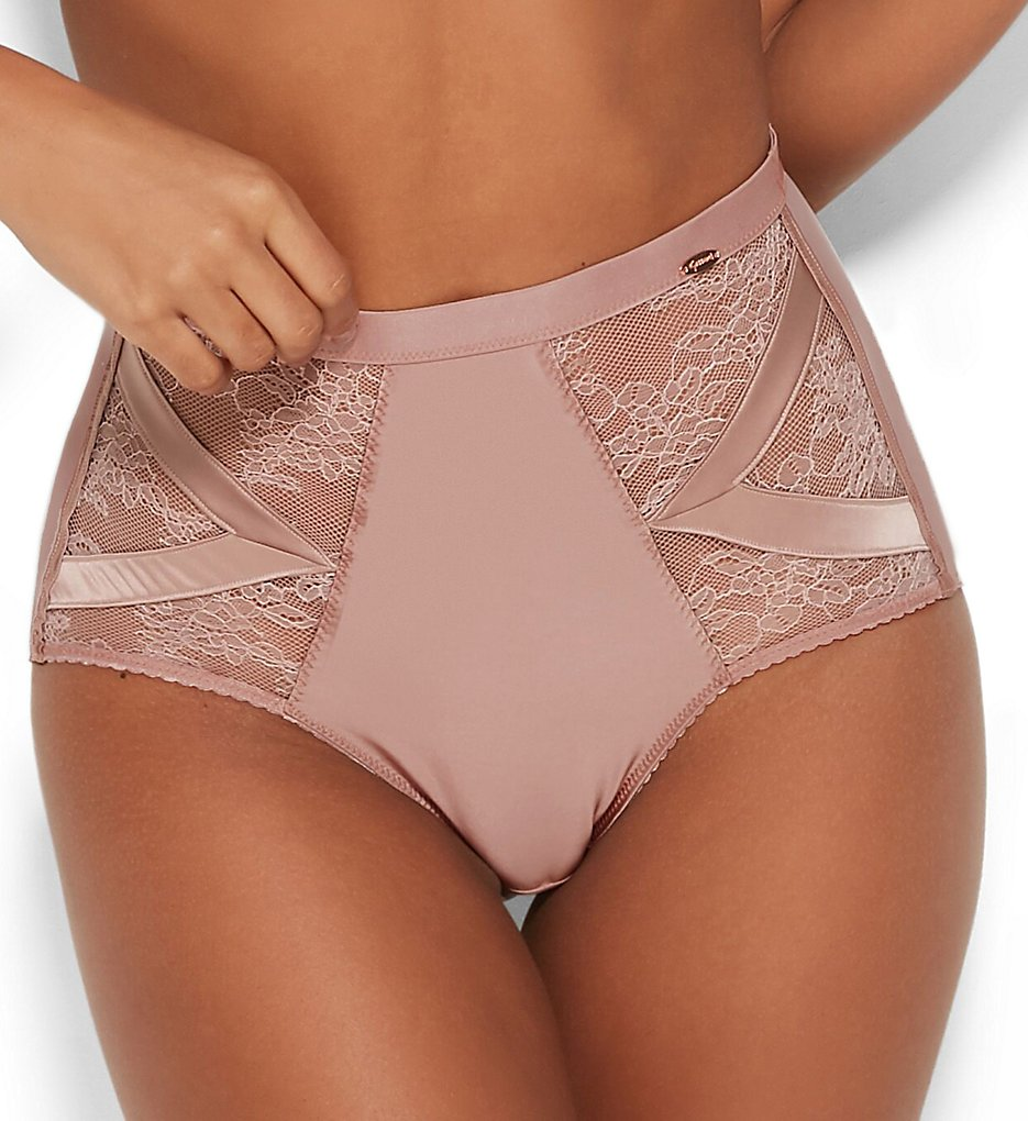 Gossard >> Gossard 16203 VIP Chicago High Waist Deep Brief Panty (Wood Rose XS)