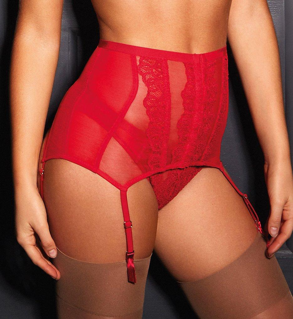 Gossard - Gossard 17102 VIP Guipure Deep Suspender (Lipstick Red XS)