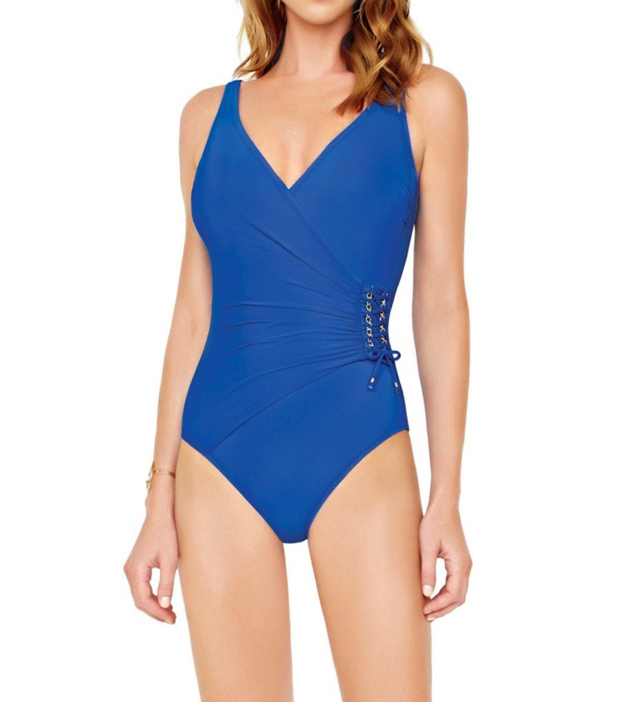 Gottex Gold Surplice Tummy Control One Piece Swimsuit