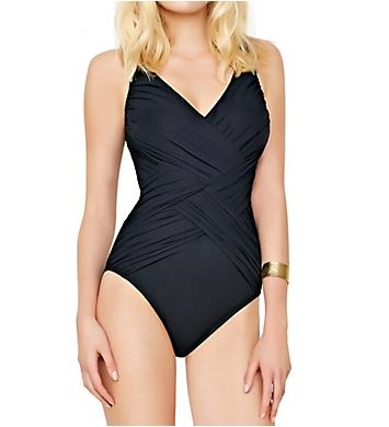 Gottex Lattice Surplice One Piece Swimsuit