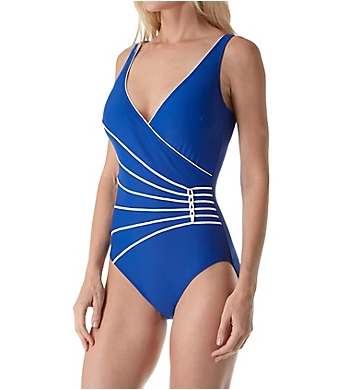 Gottex Surplice Tummy Control One Piece Swimsuit