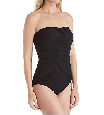 Gottex Lattice Bandeau One Piece Swimsuit