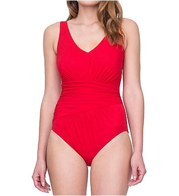 Gottex Vista V-Neck One Piece Swimsuit