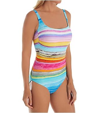Gottex Piruleta Square Neck One Piece Swimsuit