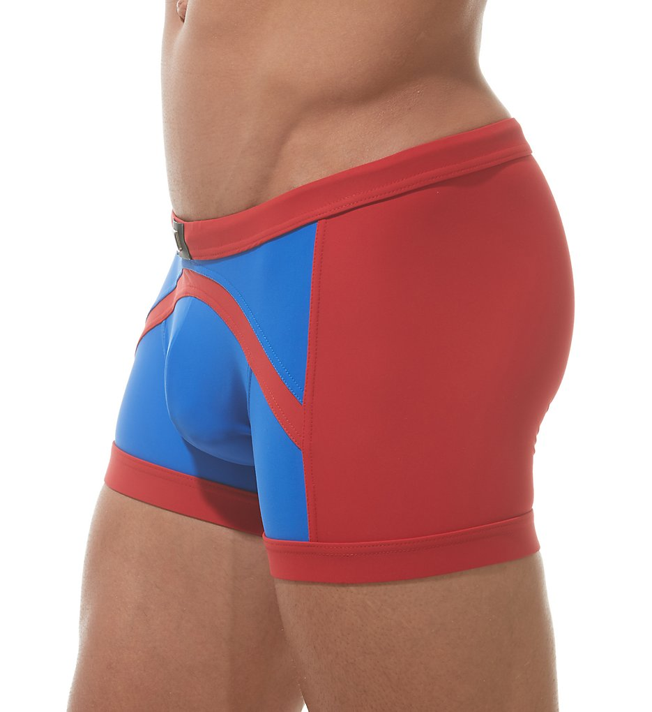 gregg homme 151305 sea reef square leg swim trunk (red/royal xl)
