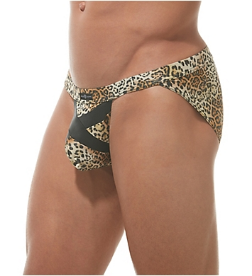 Gregg Homme Captive Faux Leather Leopard Brief