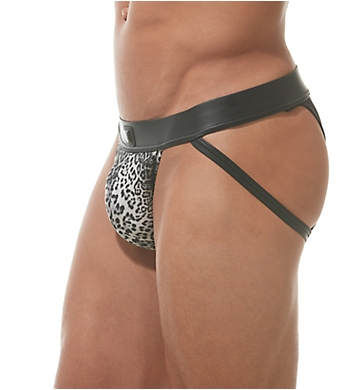Gregg Homme Captive Faux Leather Leopard Brief Jock