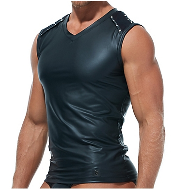 Gregg Homme Scorpio Faux Leather Muscle Shirt