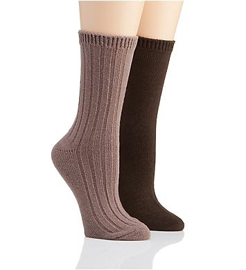 H Halston Ultra Soft Boot Sock - 2 Pack