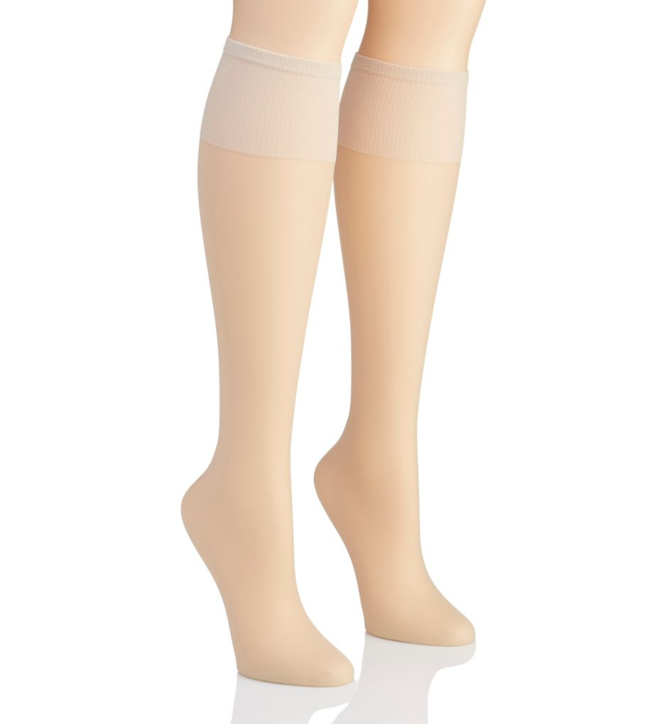 Hanes Silk Reflections Plus Silky Sheer Knee High - 2 Pk