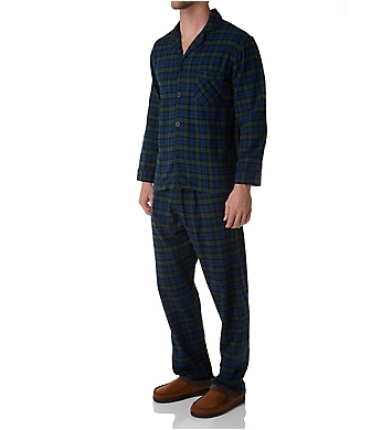 Hanes Big Man Plaid Flannel Pajama Set
