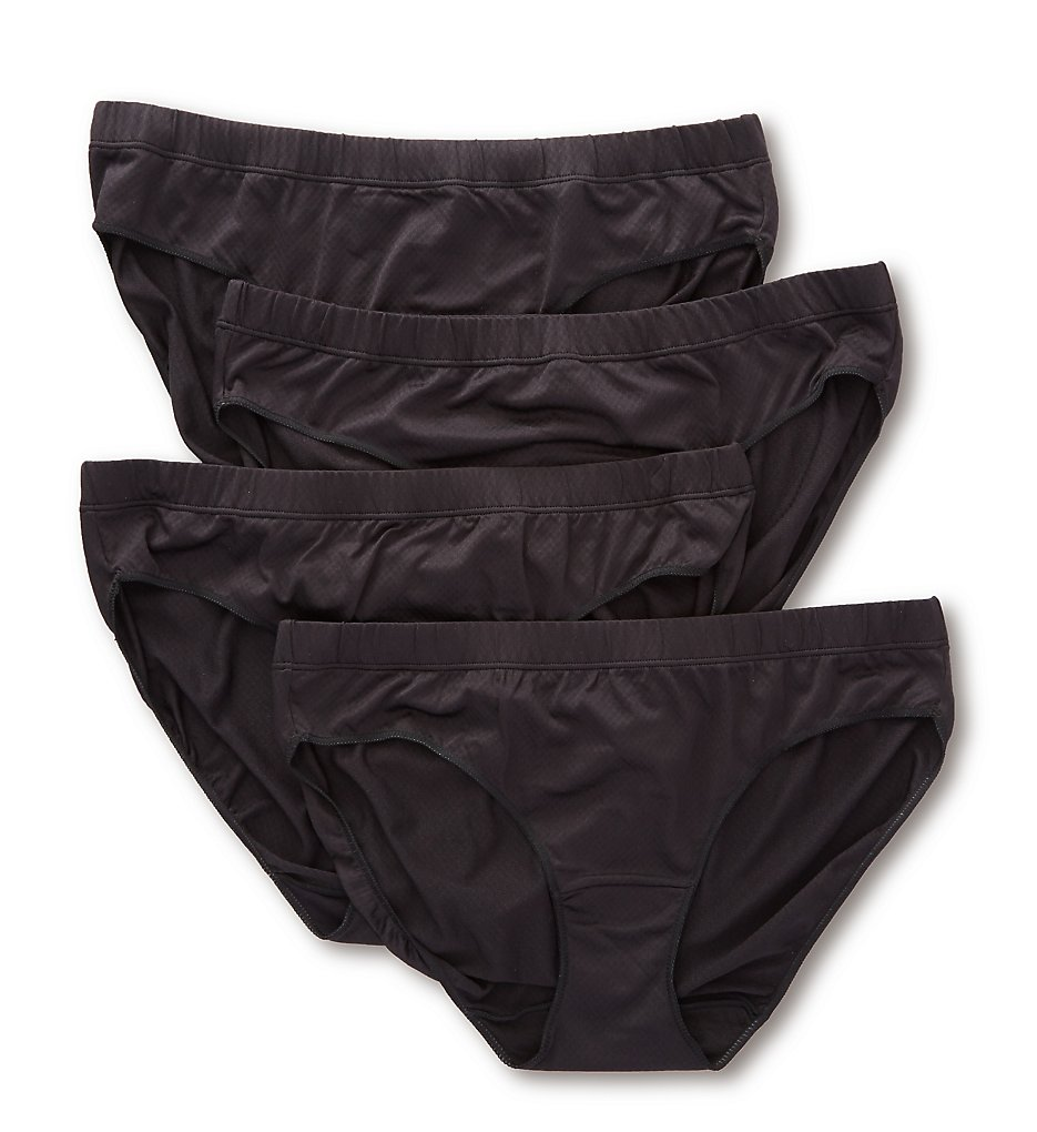 Hanes : Hanes 41ULHP Ultra Light Breathable Hipster Panty - 4 Pack (BlackBlackBlackBlack 5)
