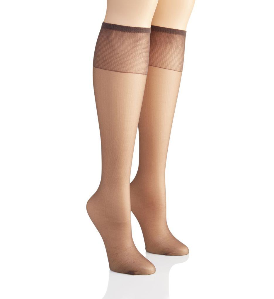 Hanes Silk Reflections Knee High - 2 Pair Pack