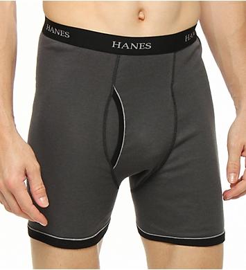 Hanes Premium Cotton Ringer Boxer Briefs - 5 Pack