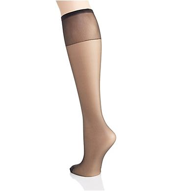 2 Pack Hanes Silk Reflections Silky Sheer Knee highs renforcé Toe NEUF