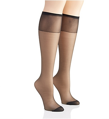 Hanes Silk Reflections Knee High Reinforced Toe - 2 Pack