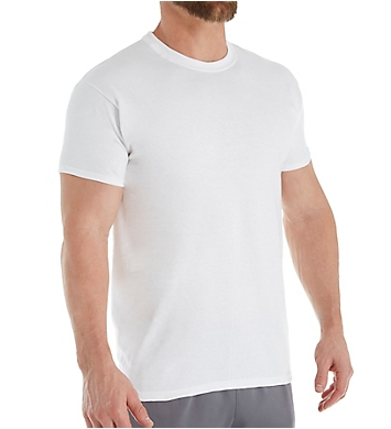 Hanes Heavyweight Crew Neck T-Shirts - 4 Pack