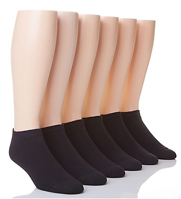 Hanes Classic Cushion No Show Socks - 6 Pack