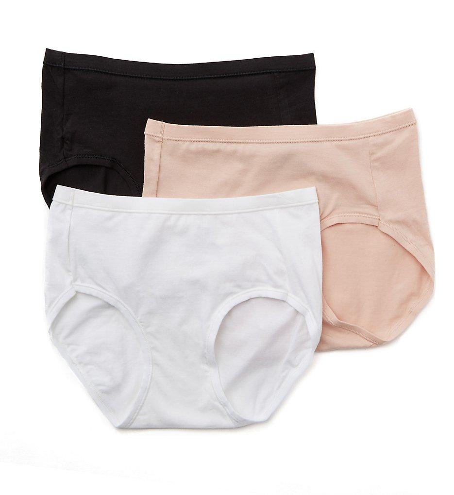 Hanes : Hanes ET39 Comfort Soft Cotton Stretch Low-Rise Panty - 3 PK (Assorted 5)