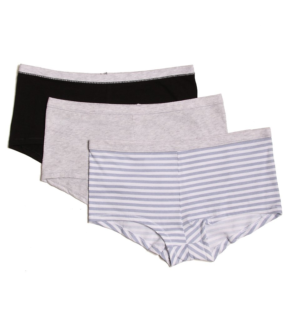 Hanes - Hanes ET49 ComfortSoft Cotton Stretch Boy Brief Panty- 3 Pack (Assorted 5)