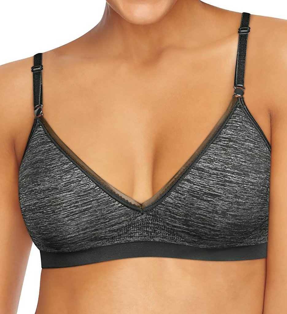Hanes G795 Comfy Support ComfortFlex Fit Wirefree Bra (Gravel Grey Heather)