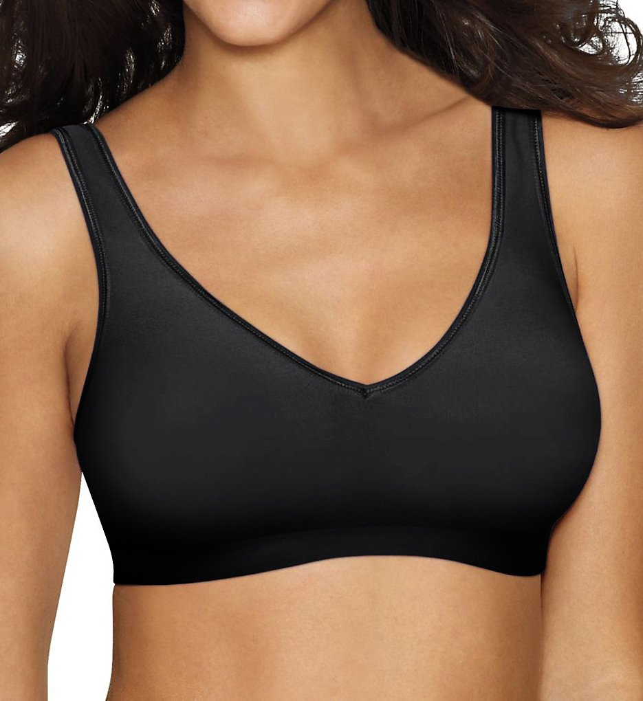 Hanes G796 SmoothTec ComfortFlex Fit Wirefree Bra (Black)
