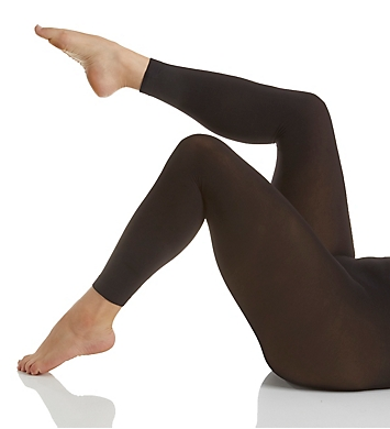 Hanes Curves Plus Size Blackout Footless Tights
