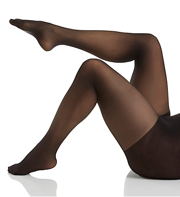 Hanes Curves Plus Size Sheer Control Top Tights
