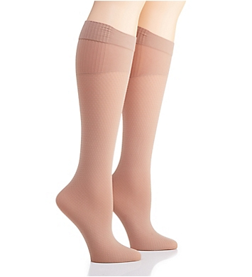 Hanes Perfect Socks Diamond Compression - 2 Pair