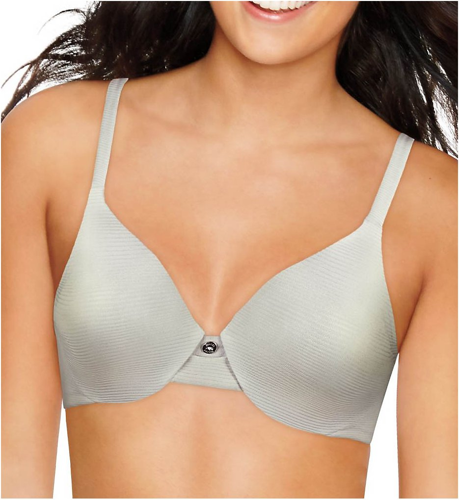Hanes HU02 Ultimate T-Shirt Soft Contour Underwire Bra (Stripe Sterling Grey)