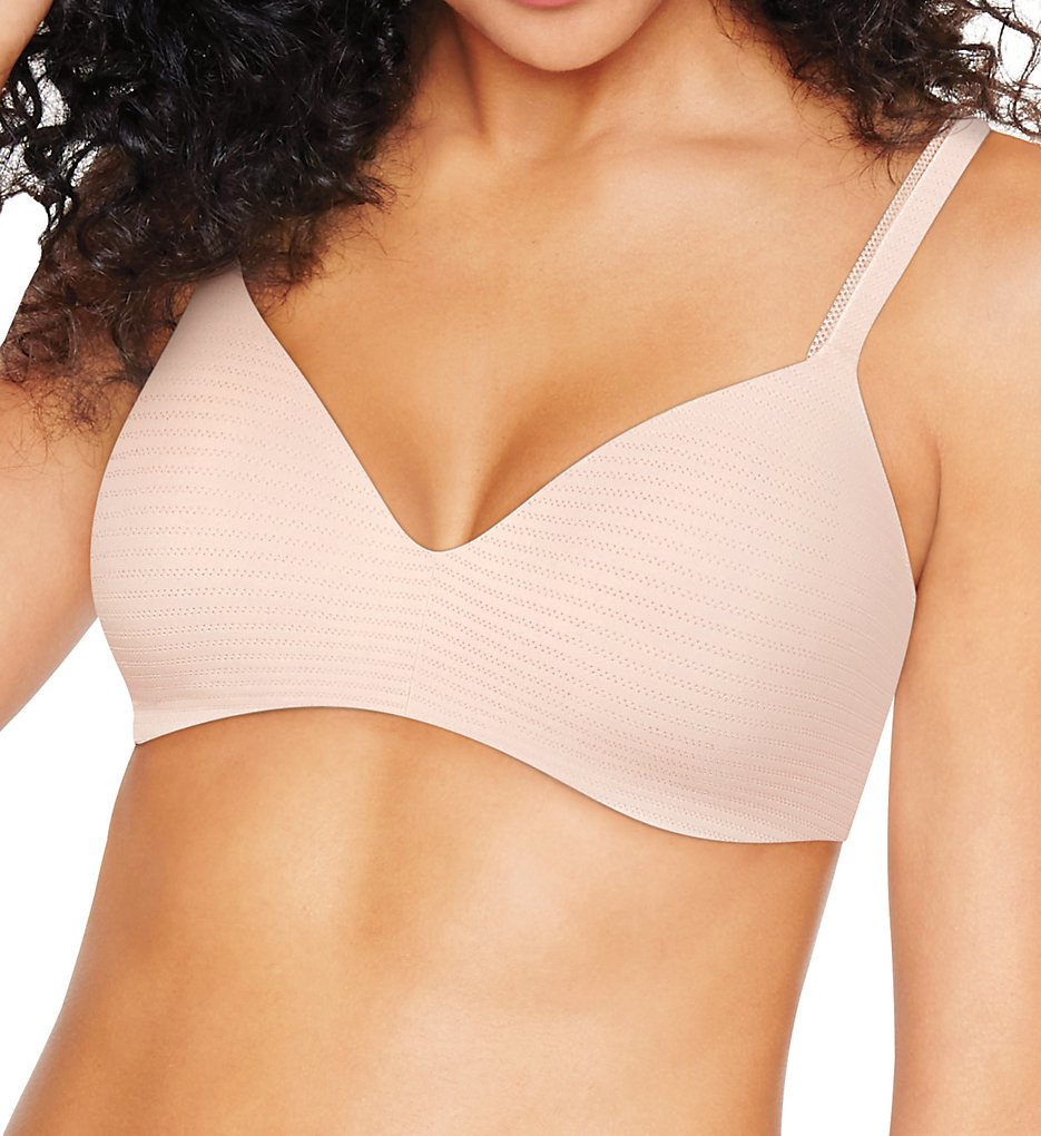 Hanes HU03 Ultimate T-Shirt Soft Contour Wirefree Bra (Light Buff Micro Dot